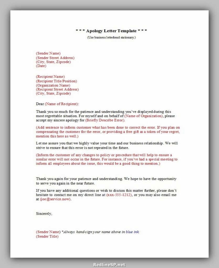 apology letter 020