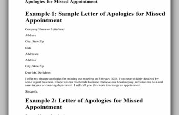 apology letter 501