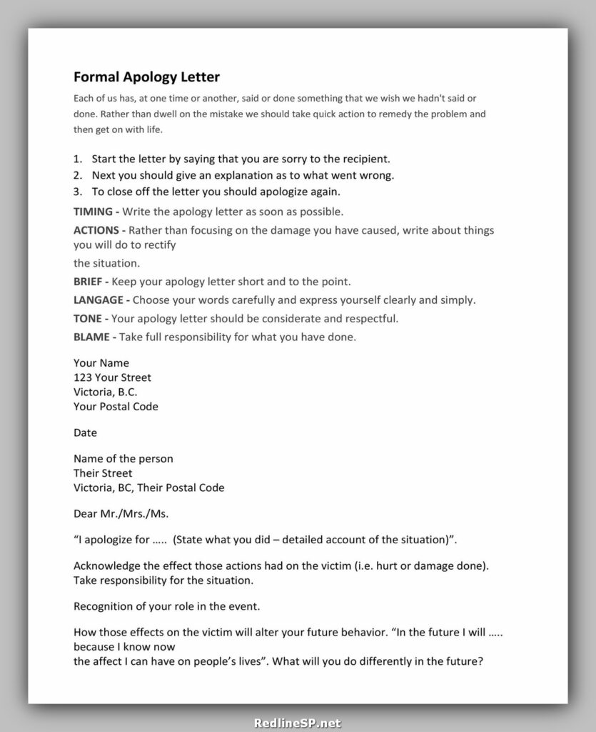 apology letter sample 30