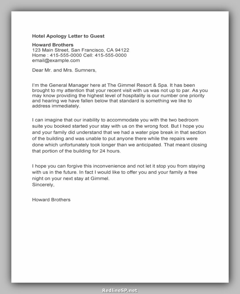 apology letter template 18