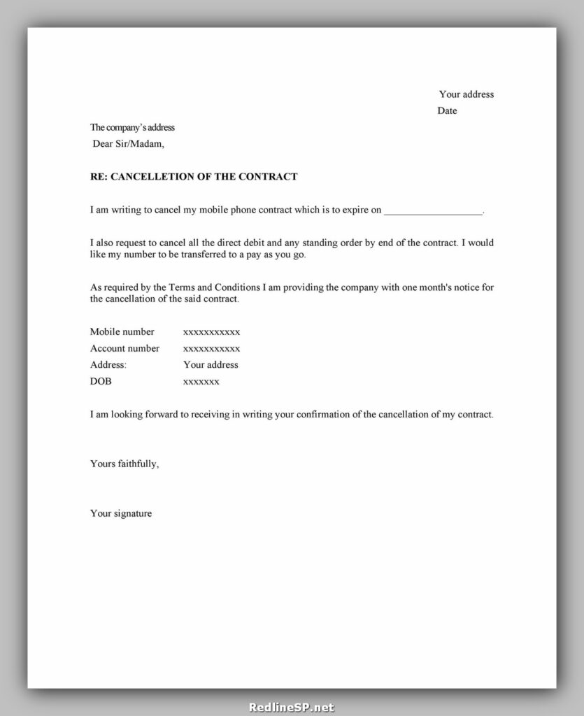 cancellation letter example 23
