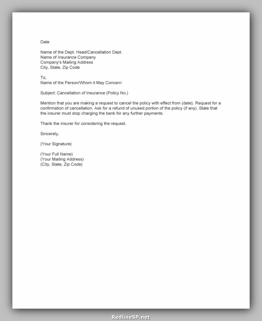 cancellation letter example 25
