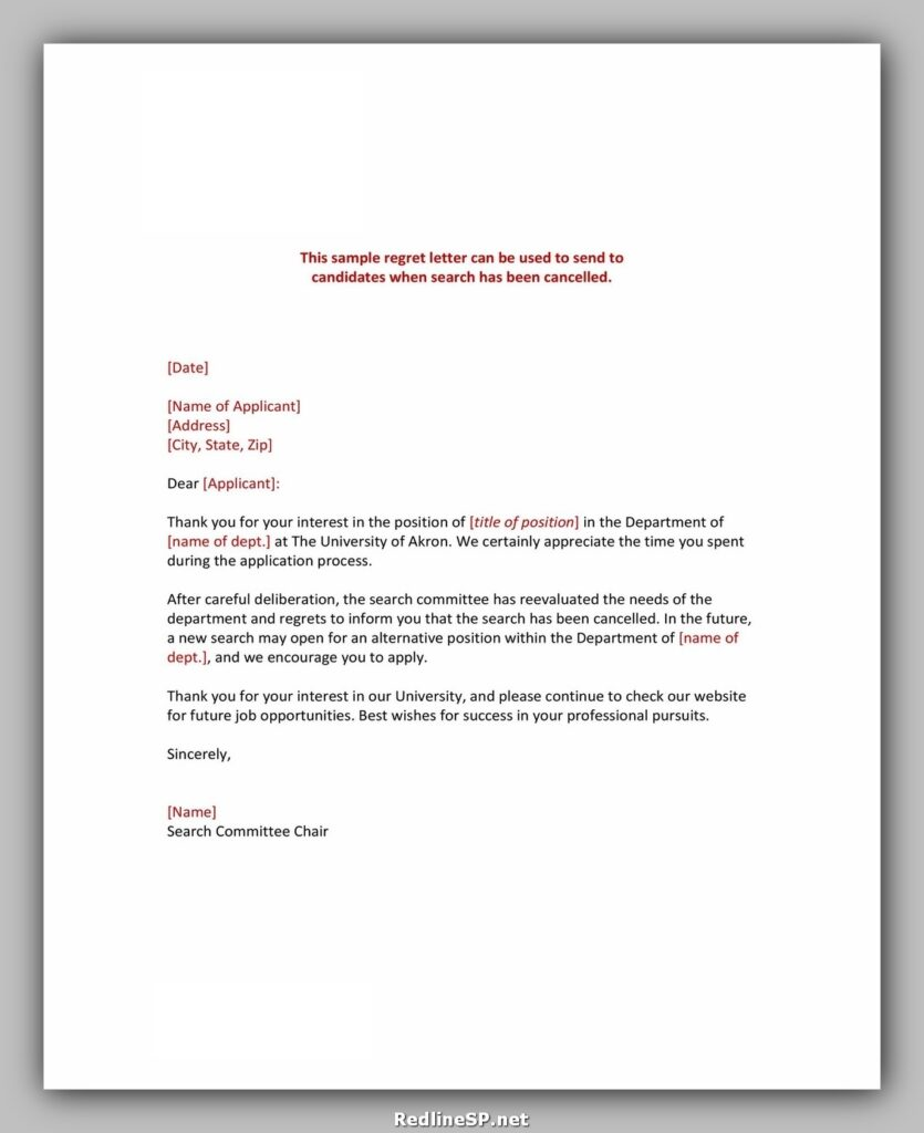 cancellation letter sample 38