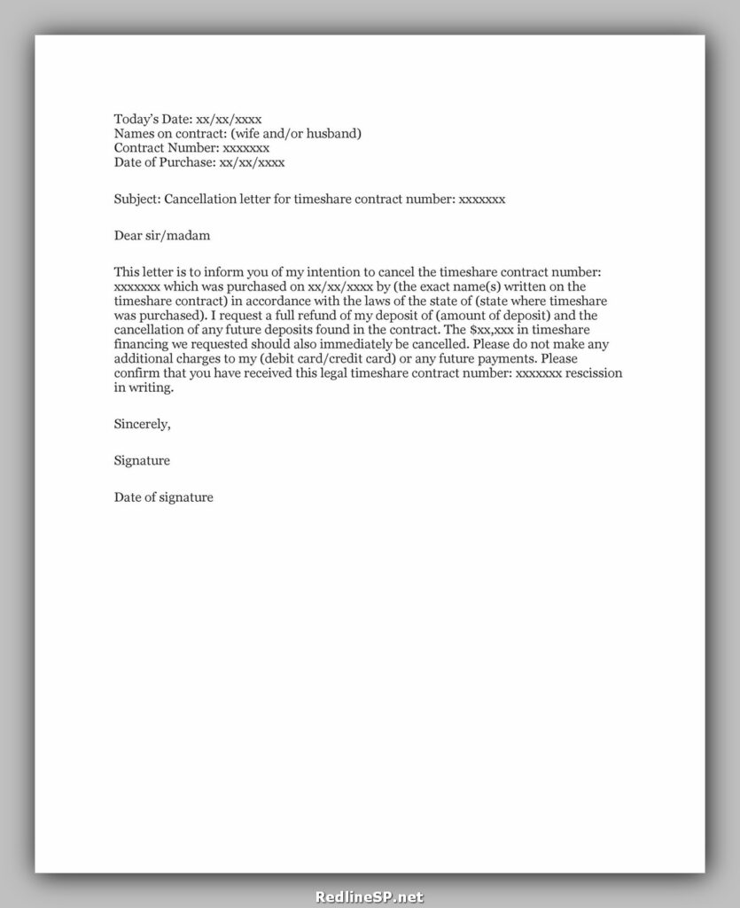 cancellation letter sample 42