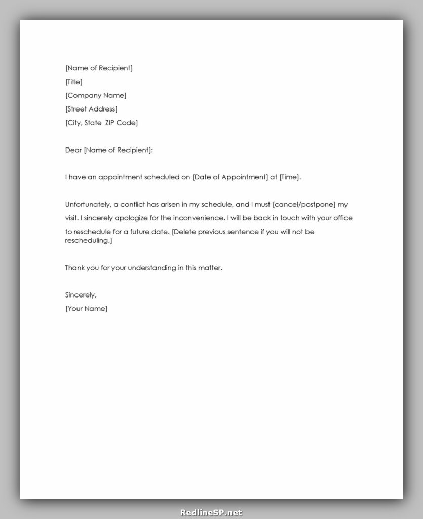 cancellation letter template 11