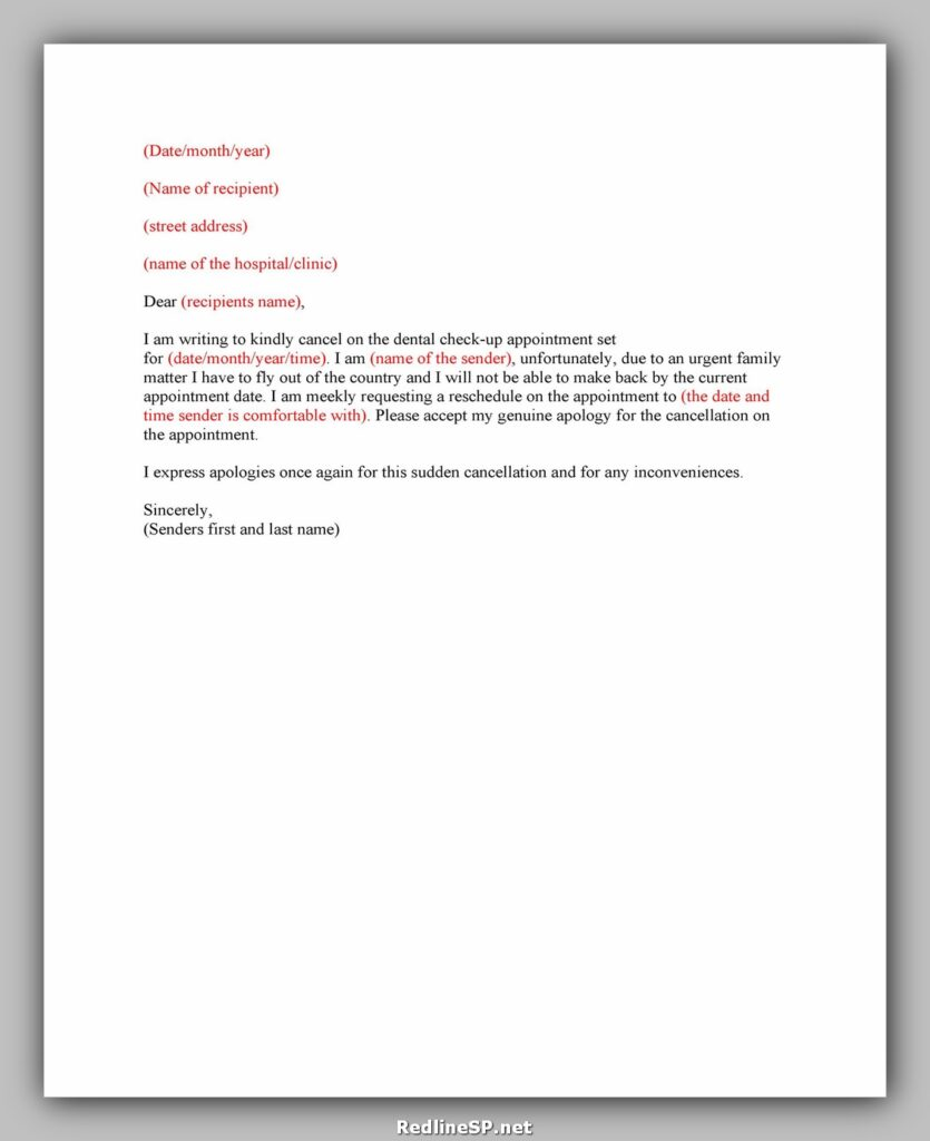 cancellation letter template 13