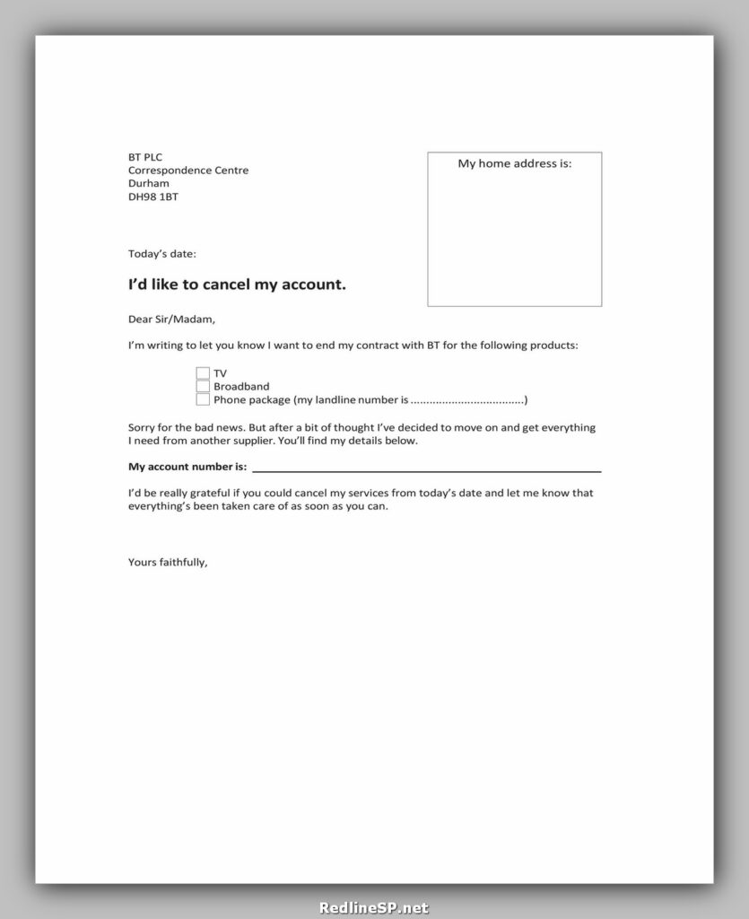 cancellation letter template 15