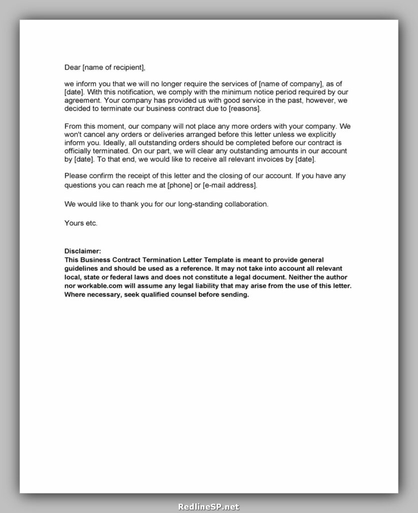 cancellation letter template 16