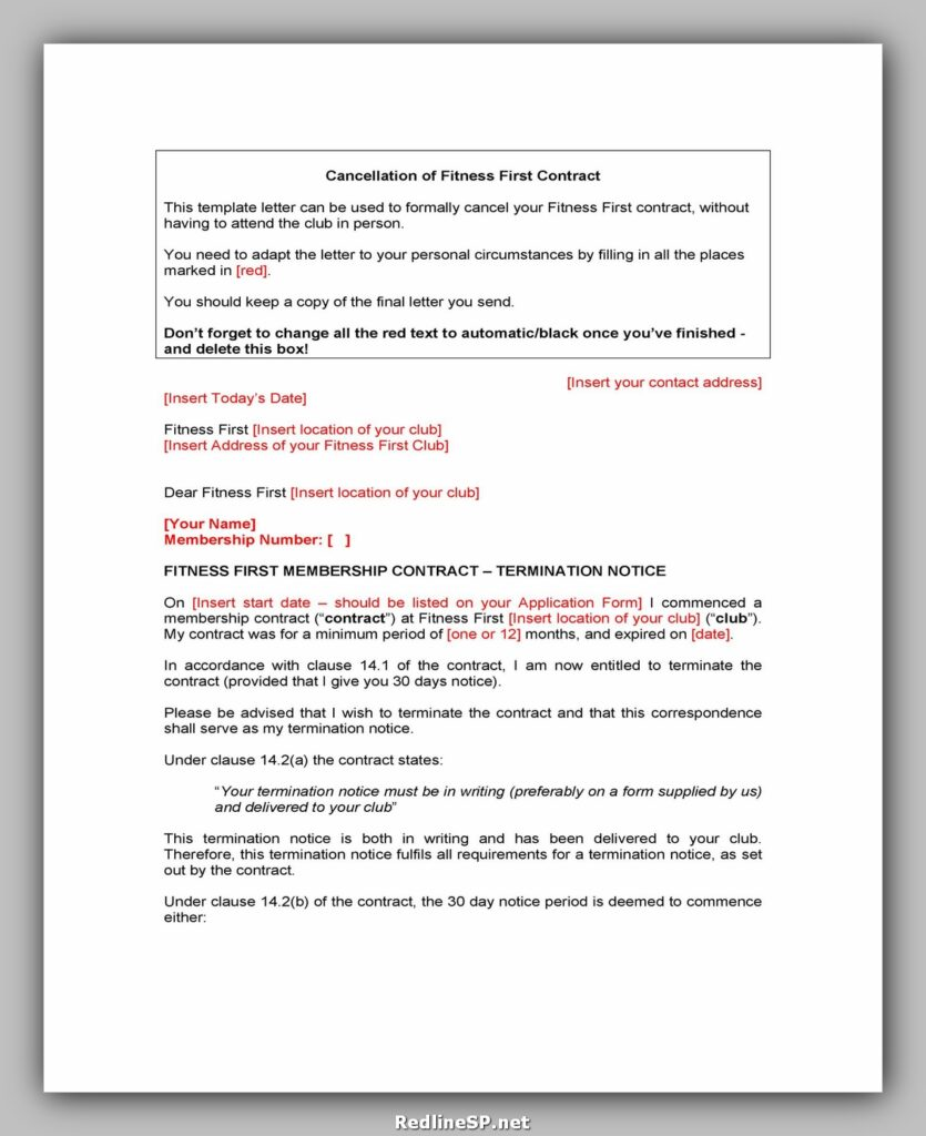 cancellation letter template 18
