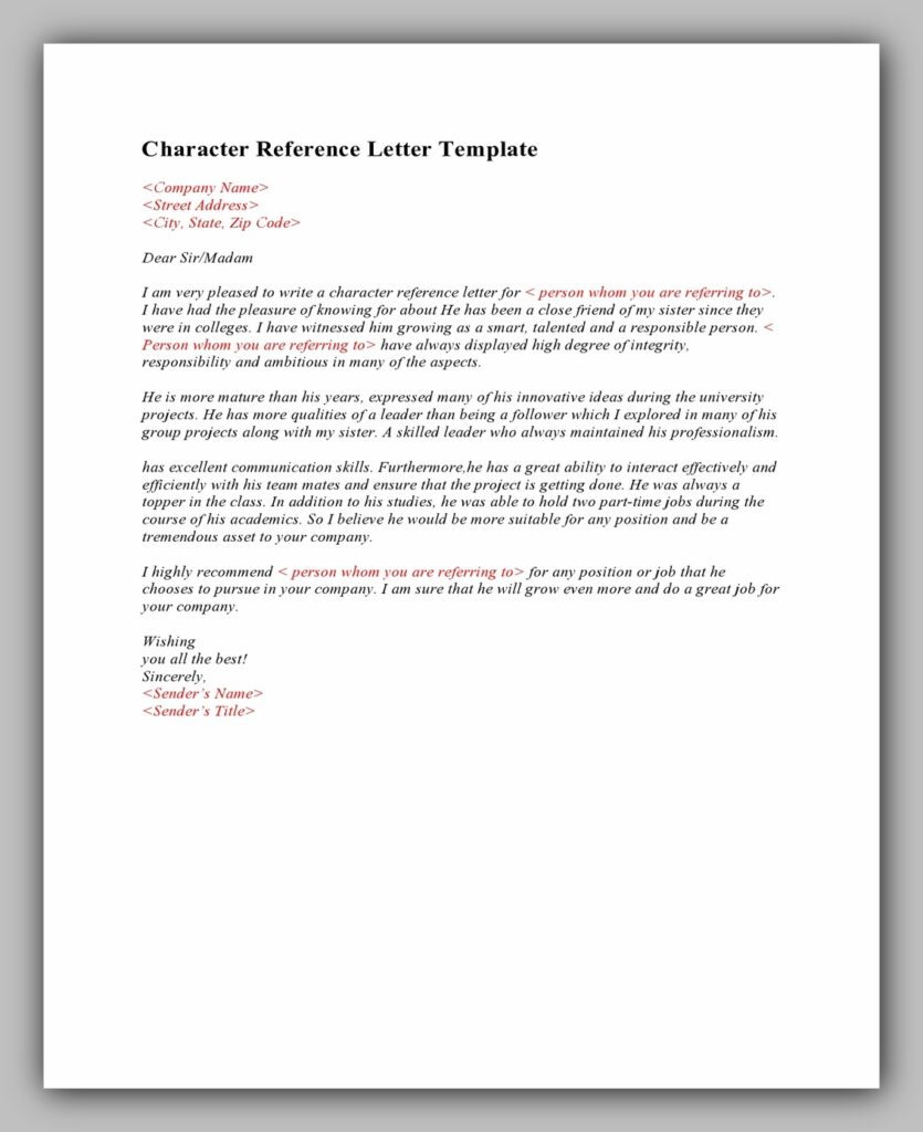 character reference letter 22
