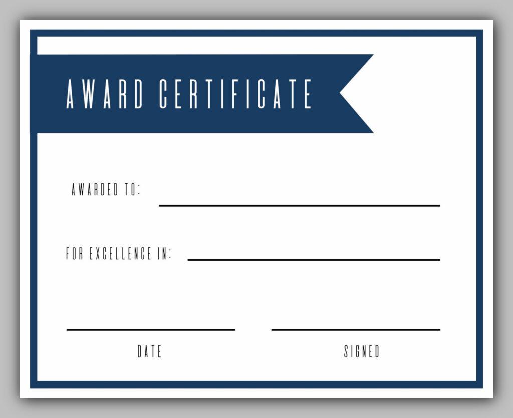 award certificate template 10