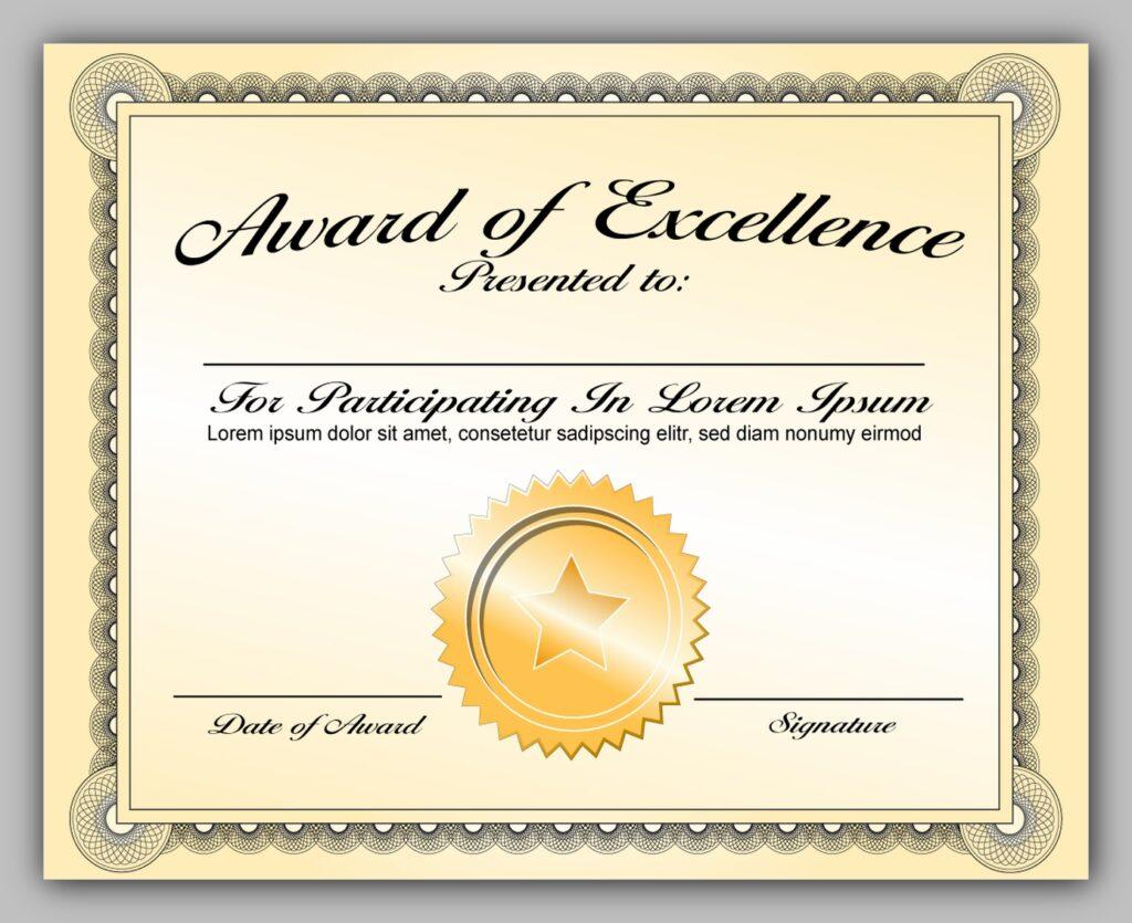 award certificate template 17