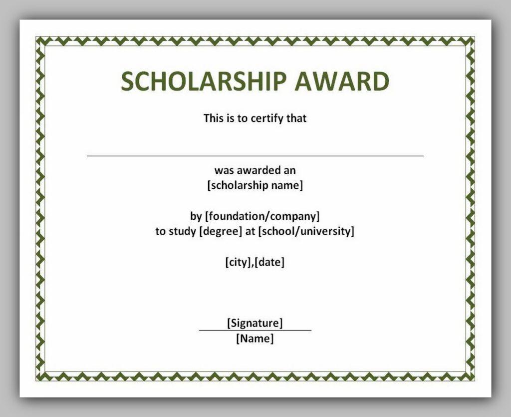award certificate template 20