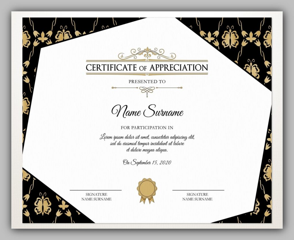 certificate template free download 04