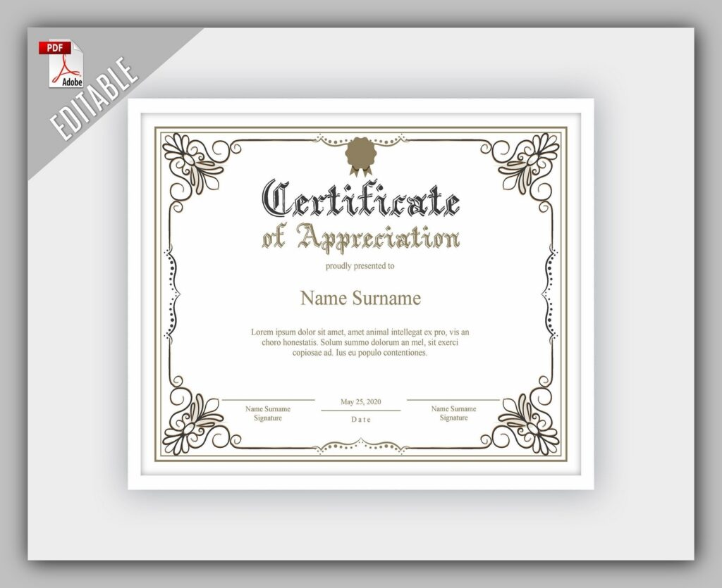 certificate template free download 06