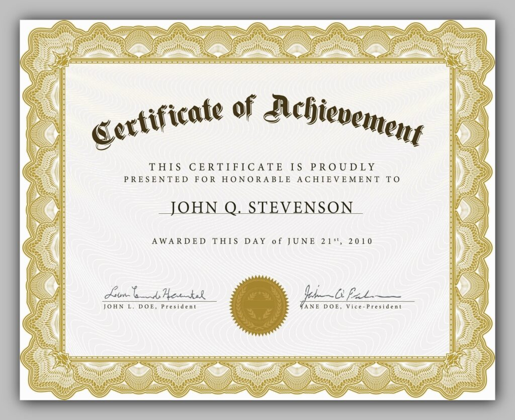 certificate template free download 08