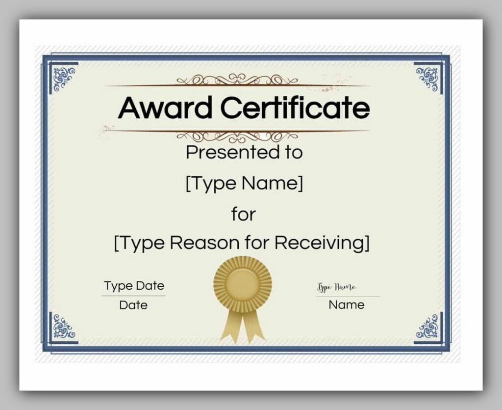 certificate template free download 13
