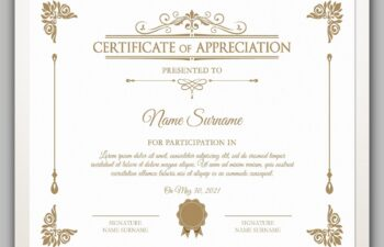 certificate template free download 14