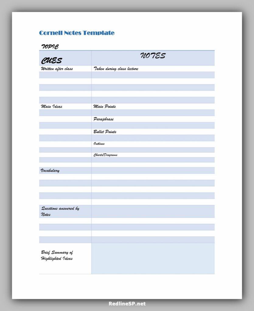 cornell note template 02