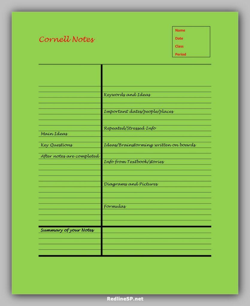 cornell note template 05