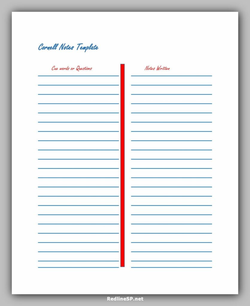 cornell note template 06