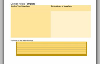 cornell note template 12