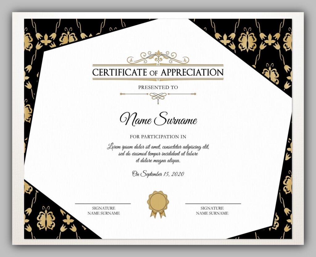 printable certificate template 04