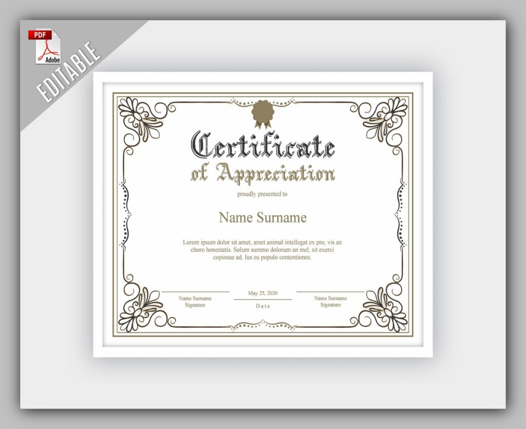 printable certificate template 06