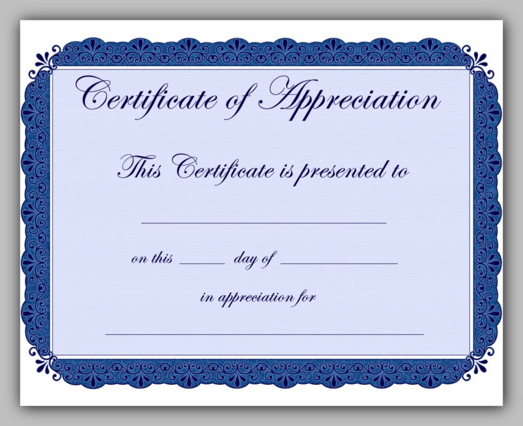 printable certificate template 10