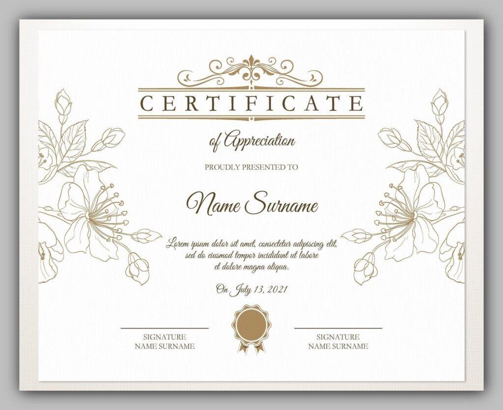 printable certificate template 11