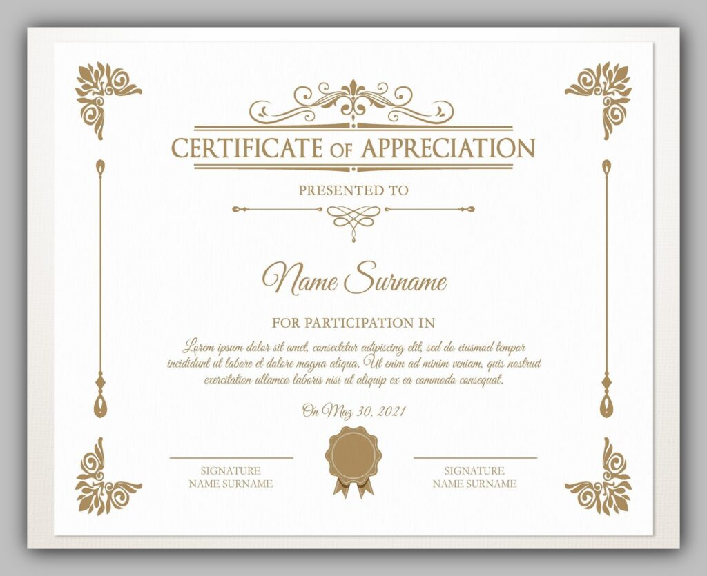 printable certificate template 14