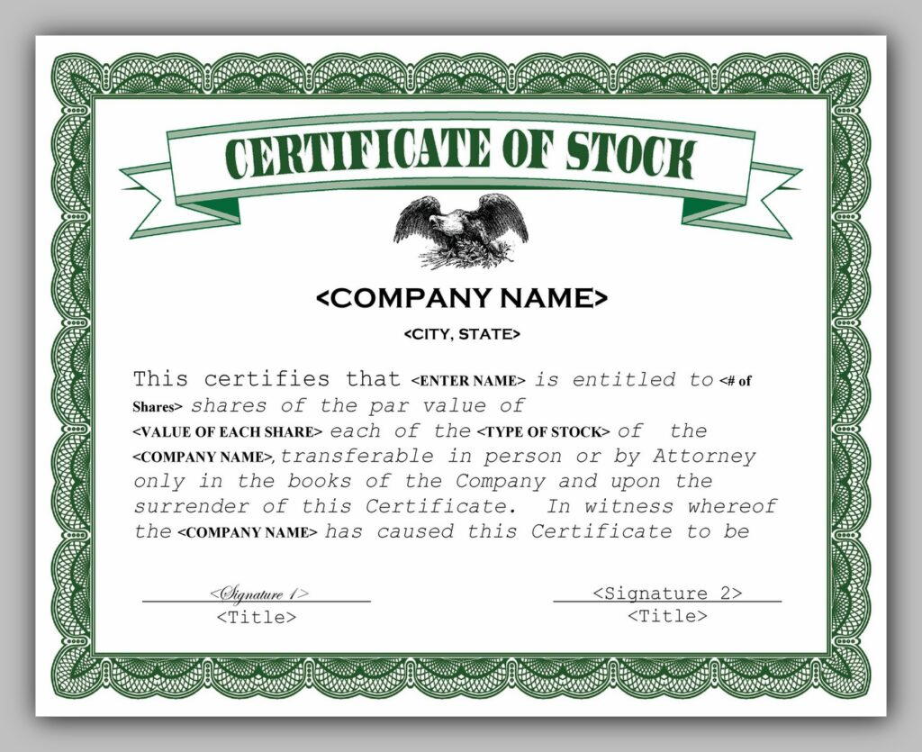 share certificate template 01
