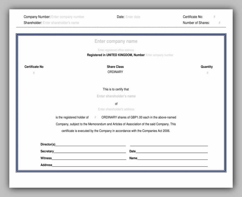 share certificate template 32