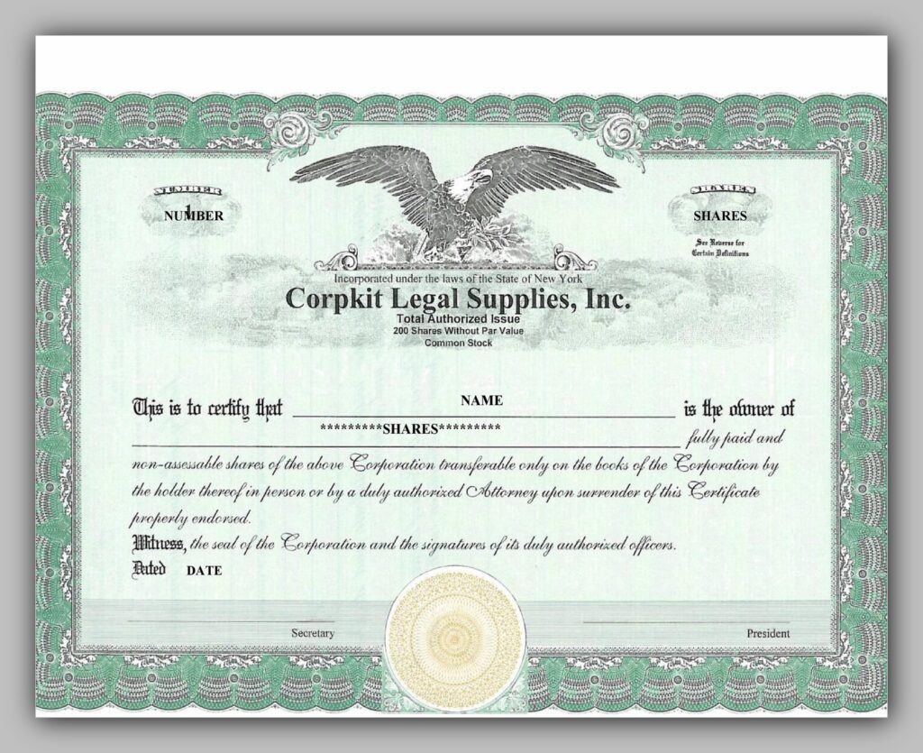 share certificate template 35
