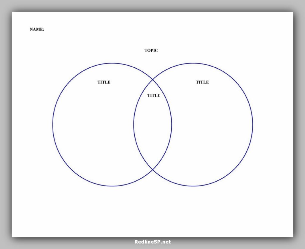 Venn Diagram Template Printable