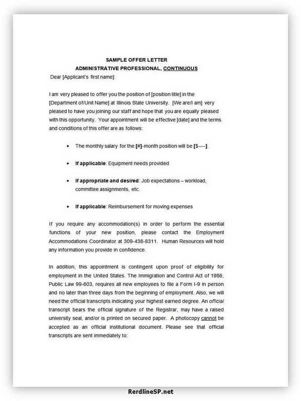 Appointment Letter Template 04