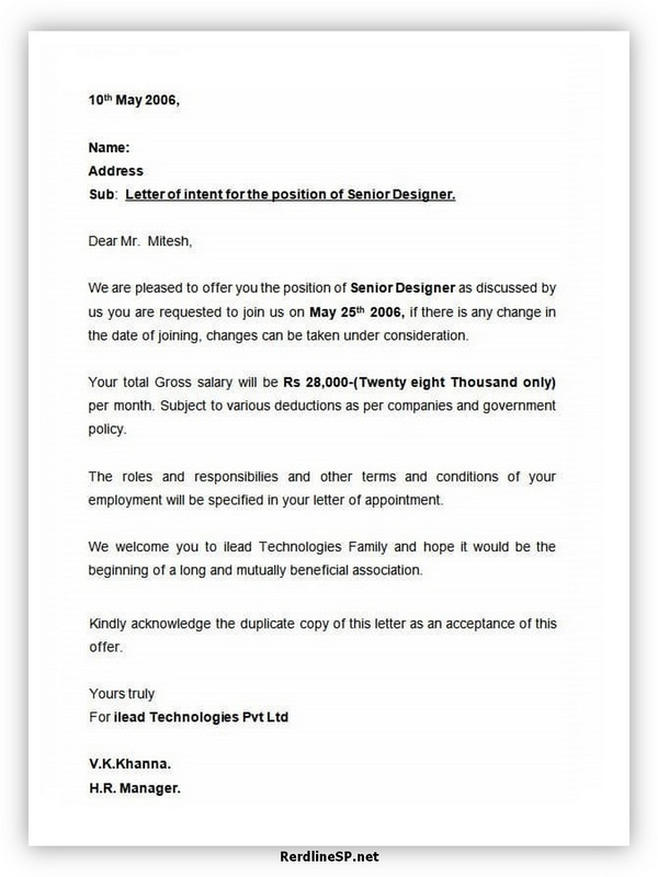 Appointment Letter Template 06