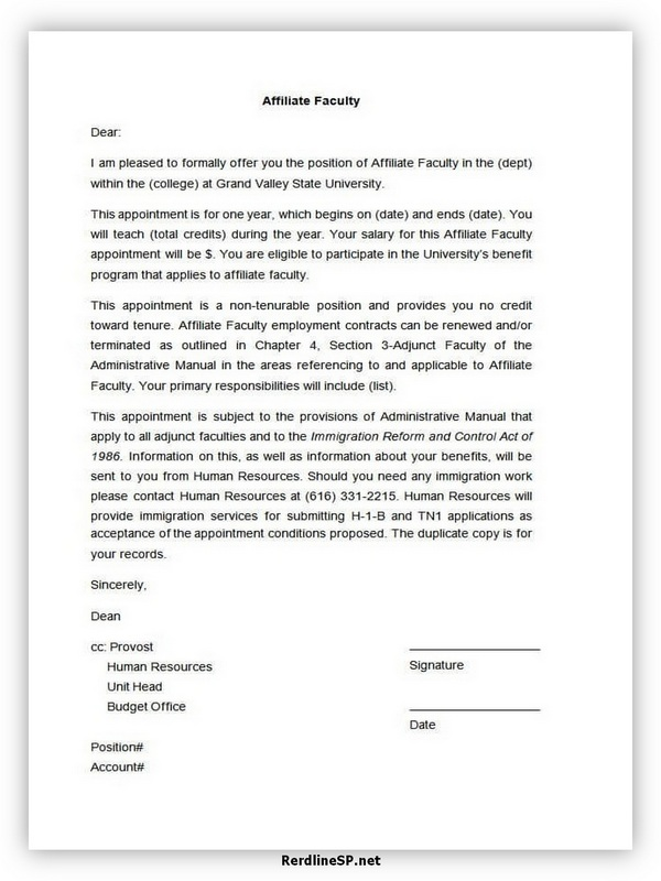 Appointment Letter Template 07
