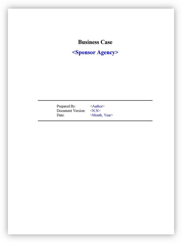 Business Case Template 01
