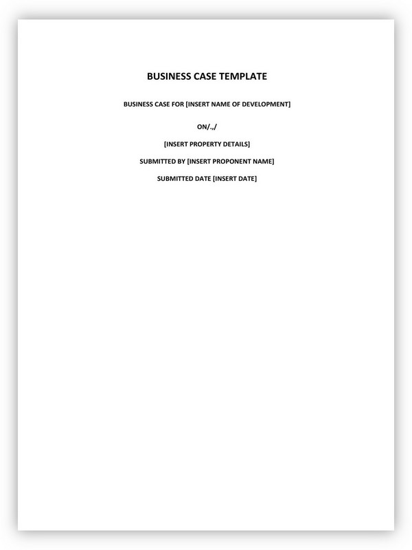 Business Case Template 05