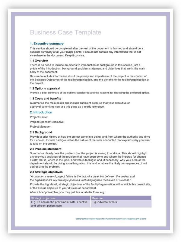 Business Case Template 10