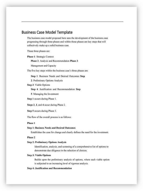 Business Case Template 16