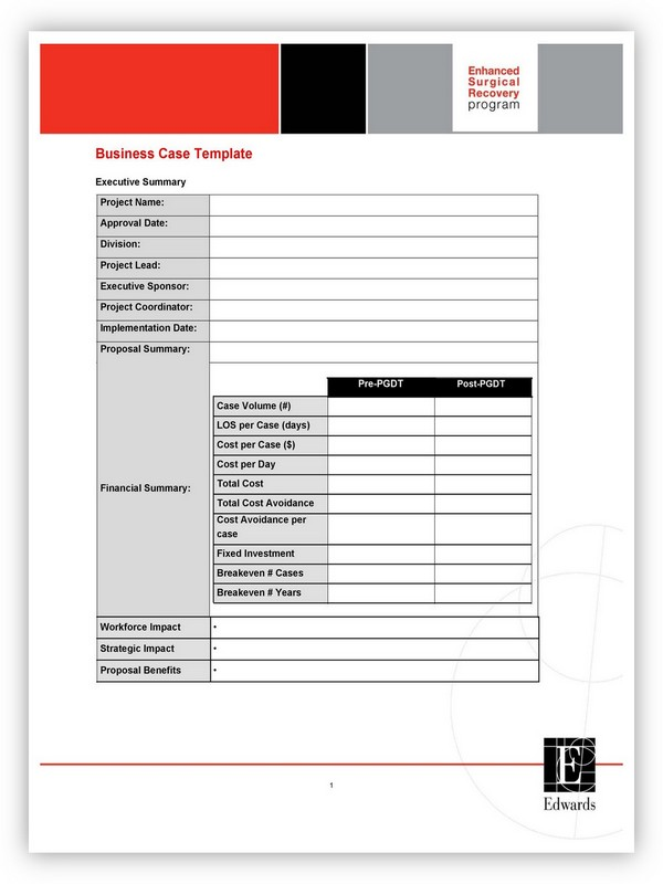 Business Case Template 19