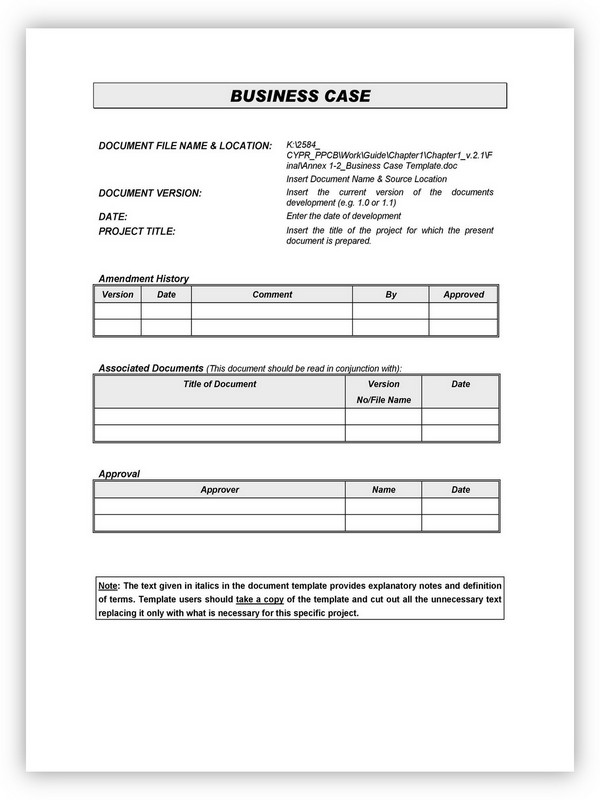 Business Case Template 27