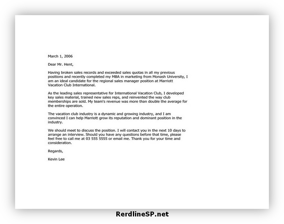 Email Cover Letter Format 01