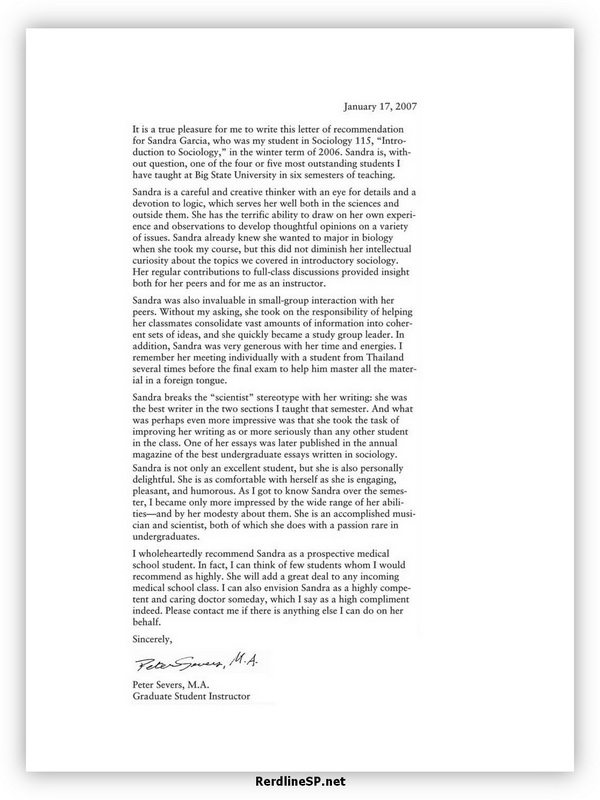 High School Recommendation Letter 05