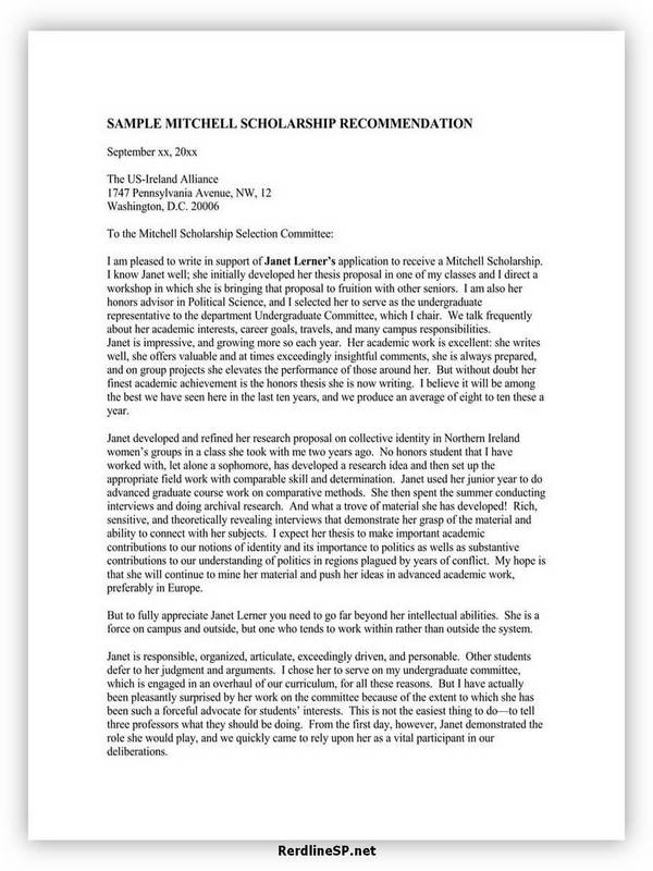 High School Recommendation Letter 06