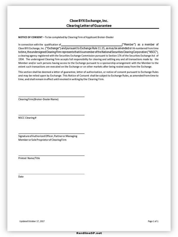 Letter Of Guarantee Sample 11
