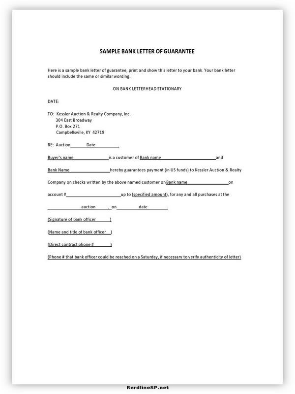 Letter Of Guarantee Sample 18
