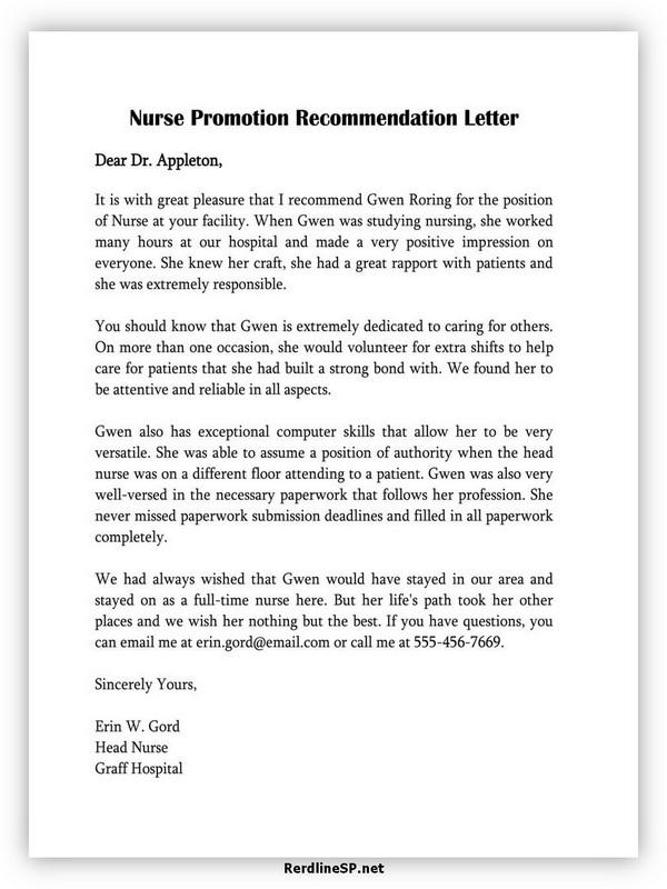 Nurse Promotion Recommendation Letter 05